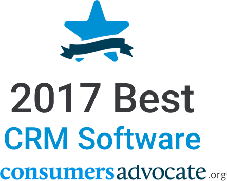 2017 Best CRM Software consumer advocate award